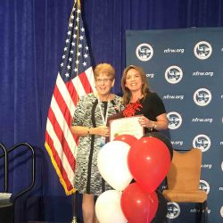Receiving a recognition - National Federation of Republican Women